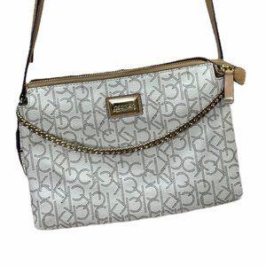 Calvin Klein Hayden Gold Chain Sling Crossbody Bag